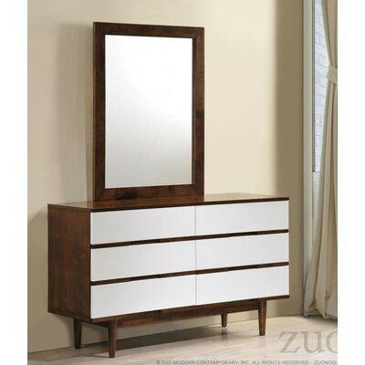 Brayden Studio Elswick Double 6 Drawer Standard Dresser