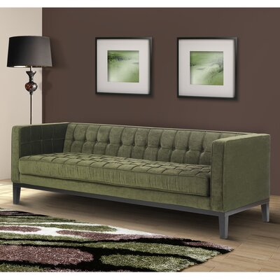Verdi Tufted Chesterfield Sofa Upholstery: Green