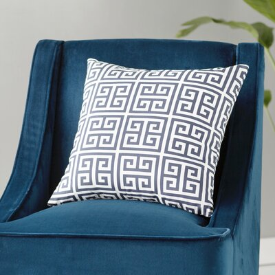 Blevins 100% Cotton Throw Pillow Color: Navy Blue, Size: 18 H x 18 W
