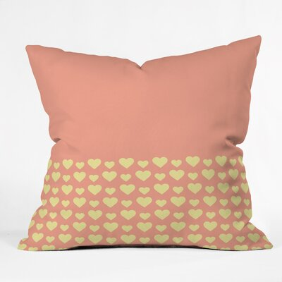 Coger Summer Love Indoor/Outdoor Throw Pillow Size: Small
