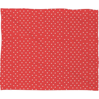 Garling Dots Plush Fleece Throw Blanket Size: Large