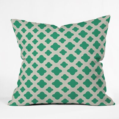 Estep Classic Emerald Indoor/outdoor Throw Pillow Size: 16 H x 16 W x 4 D