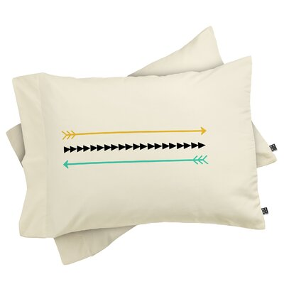 Deblois Minimal Arrows Pillowcase Size: Standard