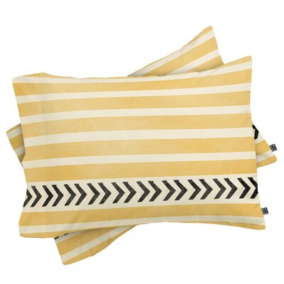 Diedrich Stripes and Arrows Pillowcase Size: King