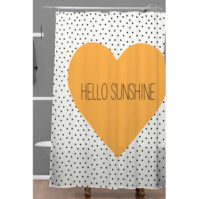 Dawley Hello Sunshine Heart Polyester Shower Curtain