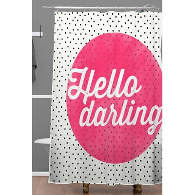Billips Hello Darling Dots Polyester Shower Curtain