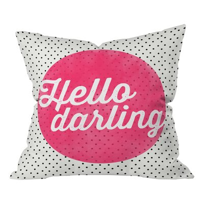 Batz Hello Darling Dots Throw Pillow Size: 26 H x 26 W x 7 D