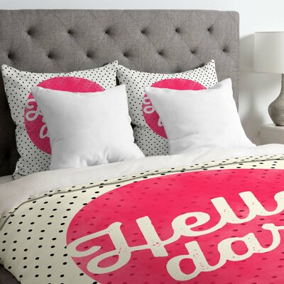 Blanton Hello Darling Dots Lightweight Duvet Cover Size: King
