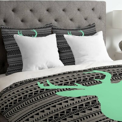 Forst Deer and Aztec Lightweight Duvet Cover Size: Twin/Twin XL