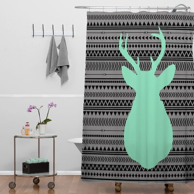 Benford Deer and Aztec Shower Curtain