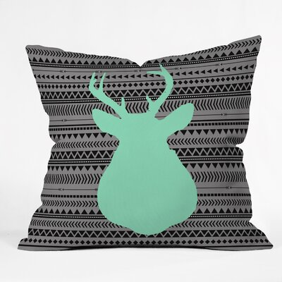 Ebersole Deer and Aztec Throw Pillow Size: 26 H x 26 W x 7 D