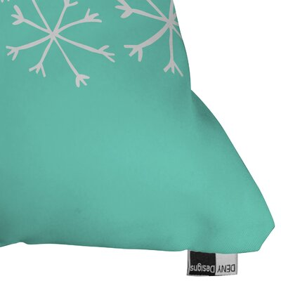 Gilcrease Snowing Indoor/Outdoor Throw Pillow Size: Medium