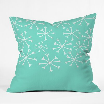 Gilcrease Snowing Indoor/Outdoor Throw Pillow Size: Small