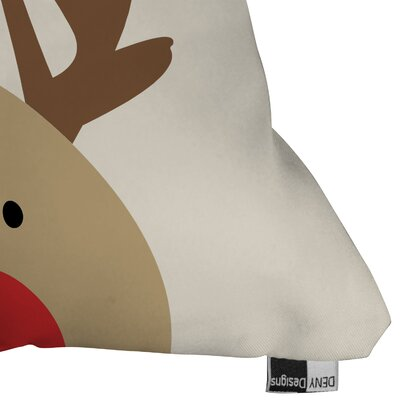 Mouton Reindeer Indoor/Outdoor Throw Pillow Size: Small
