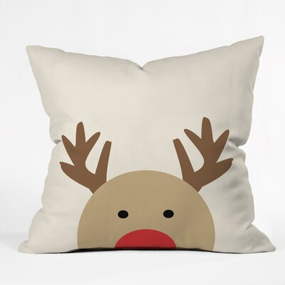 Mouton Reindeer Indoor/Outdoor Throw Pillow Size: Large
