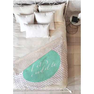 Deardorff Lets Cuddle Fleece Throw Blanket Size: 50 L x 60 W