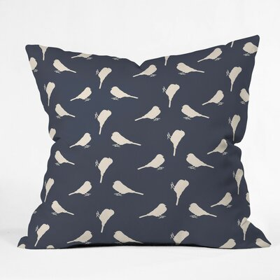 Giguere Little Birdies Outdoor Throw Pillow Size: 16 H x 16 W x 4 D