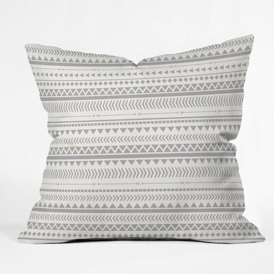 Rayner Aztec Indoor/Outdoor Throw Pillow Color: Gray, Size: 18 x 18