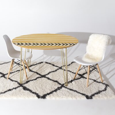 Mouton Dining Table Finish Yellow