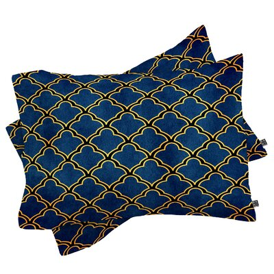 Cunniff Quatrefoil Pillow Case Size: King