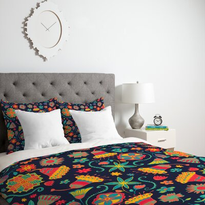 Derryberry Bloom Duvet Cover Size: King, Fabric: Lightweight
