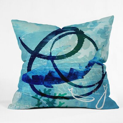 Ocean Swirl Outdoor Throw Pillow Size: 16