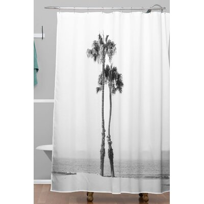 Brode Two Palms Polyester Shower Curtain