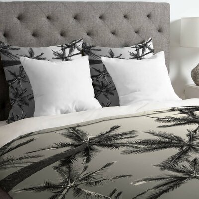 Derouen Palms Lightweight Duvet Cover Size: King