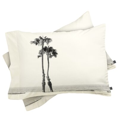 Bearden Two Palms Pillowcase Size: King