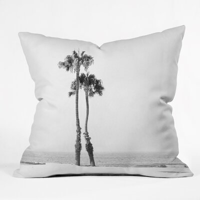 Boddie Two Palms Throw Pillow Size: 16 H x 16 W x 4 D