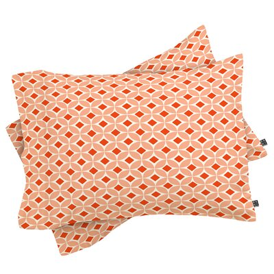 Casperson Pillowcase Color: Persimmon, Size: King