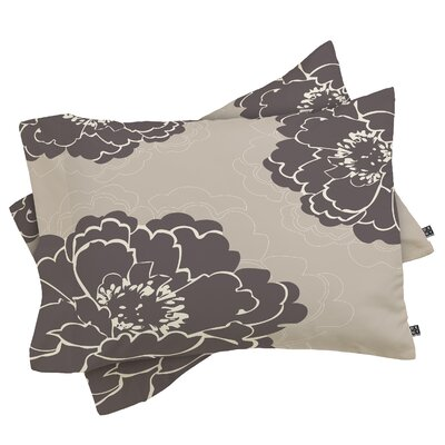 Devos Winter Peony Pillowcase Size: King