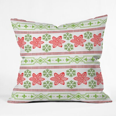 Gaylor Holiday Snowdrift Indoor/Outdoor Throw Pillow Size: Medium