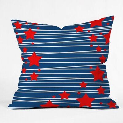 Doering Spangled Outdoor Throw Pillow Size: 16 H x 16 W x 4 D