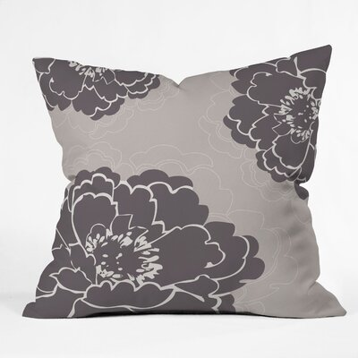 Devos Winter Peony Throw Pillow Size: Large