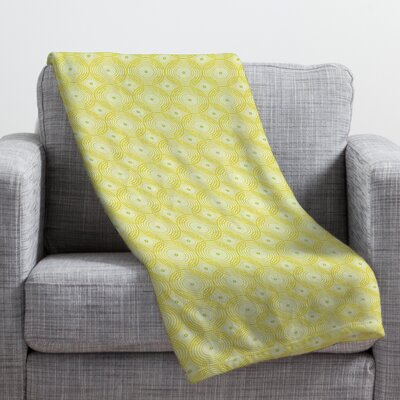 Burkhart Yellow Spirals Throw Blanket Size: 40