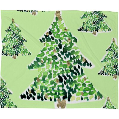 Bernardino Smells Like Christmas Plush Fleece Throw Blanket Size: Small