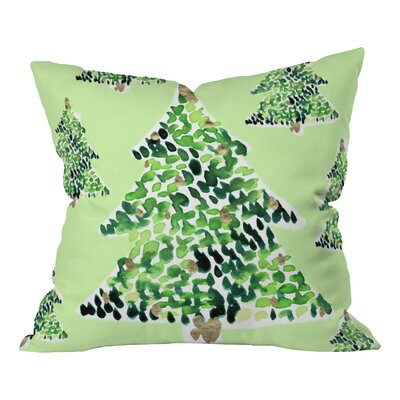 Bosley Smells Like Christmas Throw Pillow Size: Large