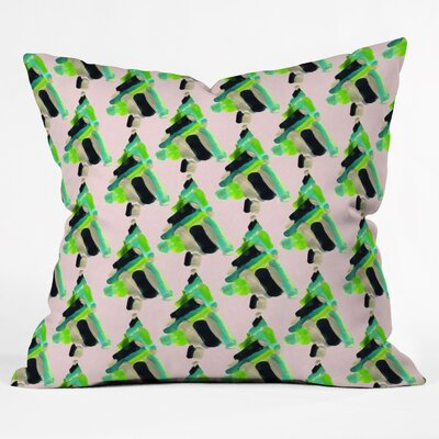 Bibbs Patterned Christmas Tree Throw Pillow Size: Large