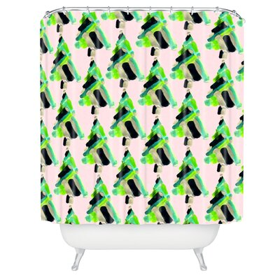 Goebel Patterned Christmas Tree Shower Curtain