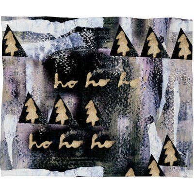 Baum A White Christmas Plush Fleece Throw Blanket Size: Medium