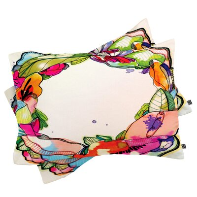 Brister Floral Frame Pillowcase Size: King