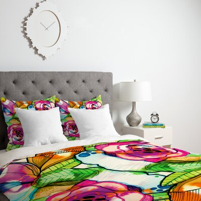 Fantasy Garden Duvet Cover Size: Twin, Fabric: Lightweight