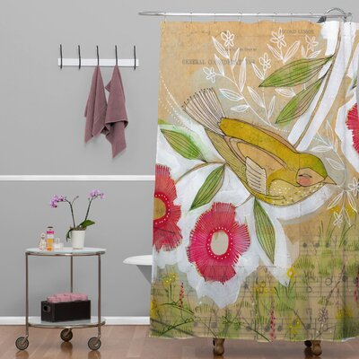 Donmoyer Dantini Sweet Meadow Bird Shower Curtain