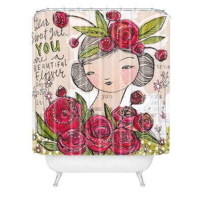 Donmoyer Dantini Dear Sweet Extra Long Shower Curtain