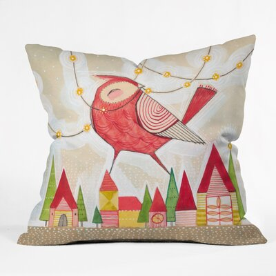Donmoyer New Bird In Town Throw Pillow Size: 16 H x 16 W x 4 D