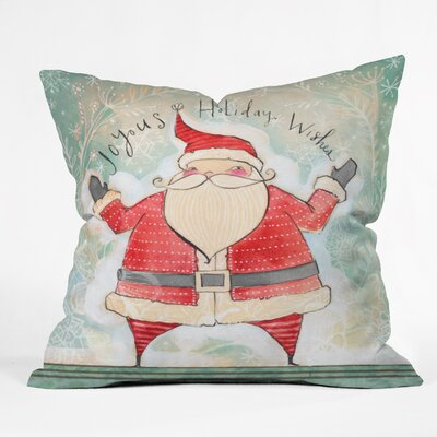 Donmoyer Joyous Holiday Wishes Throw Pillow Size: 16 H x 16 W x 4 D