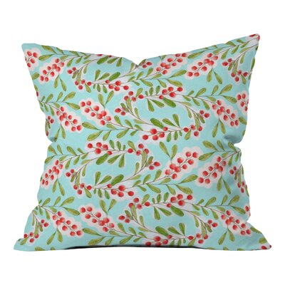 Donmoyer Holiday Berries Throw Pillow Size: 16 H x 16 W x 4 D