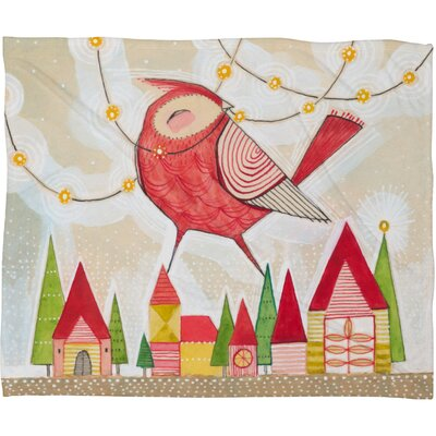 Donmoyer New Bird In Town Fleece Polyester Throw Blanket Size: 60 L x 50 W
