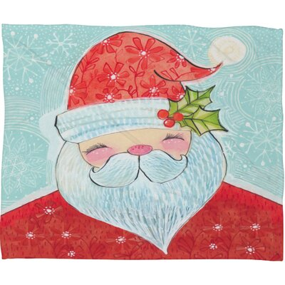 Donmoyer Sweet Santa Fleece Throw Blanket Size: 80 L x 60 W